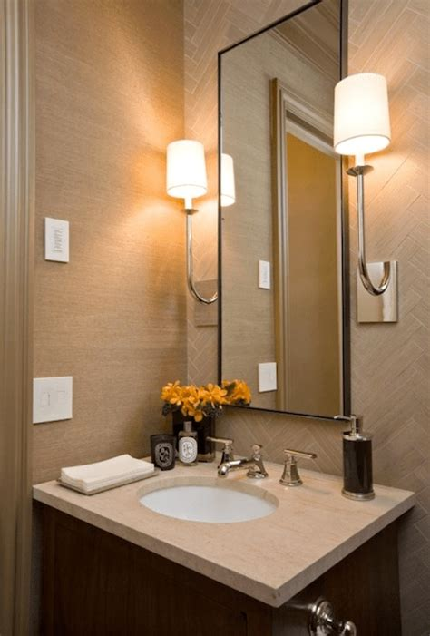 tips    decorate  small powder bathroom