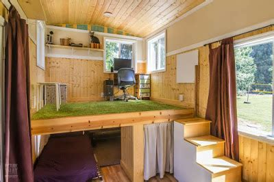 red bungalow tiny house stand office loft