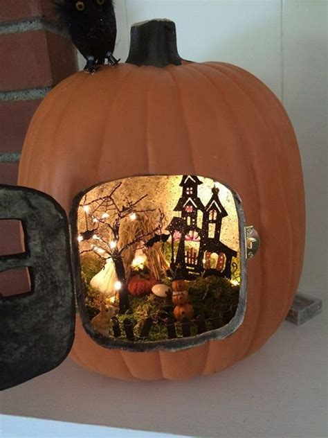 pumpkin diorama  astonishing trend  decorate