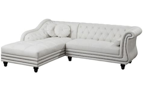 canape chesterfield blanc canapé d 39 angle gauche blanc chesterfield
