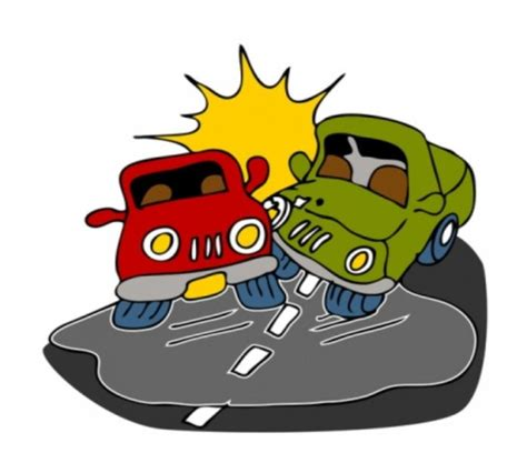 animated wrecked car accident cartoon clipart best
