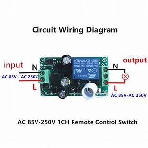 Ac 110v 220v 240v Wireless Rf Remote Control 10a Relay Switch Momentary On  Off