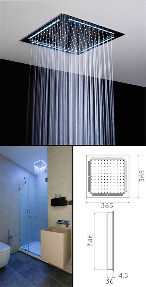 square ceiling shower head shower heads  lights