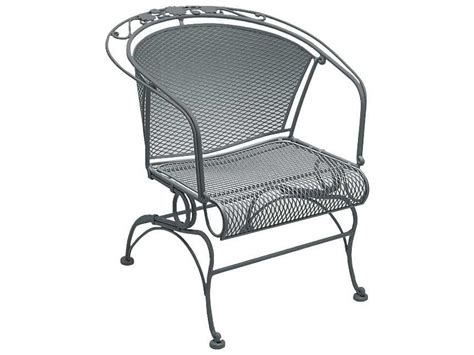 woodard briarwood wrought iron coil barrel chair