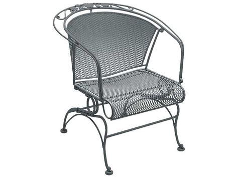 woodard briarwood wrought iron coil barrel chair