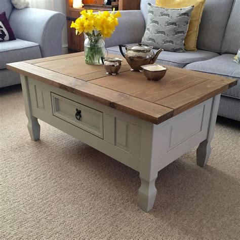shabby chic coffee table shabby chic solid pine coffee table farrow ball french