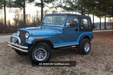 cj jeep wrangler 1986 jeep cj cj7 renegade wrangler cj 7 like laredo