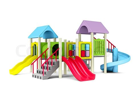 clipart clipart best 3d illustration of motley playground on white background Playground