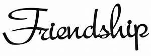 Word Cutout Friendship
