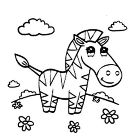cute zebra drawing coloring page cute zebra drawing