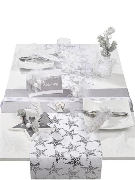 Tischdeko Weihnachten Weiß Silber by Tischdeko Weihnachten Silber Grau Weiss
