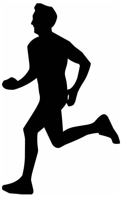 Running Silhouette Pixabay Runner Funny Outline Donation