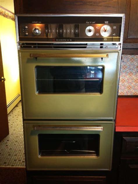 mid century modern freak vintage ovens         bright retro kitchen