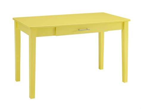 Yellow Office Desk by Midtown Wood Writing Desk Yellow