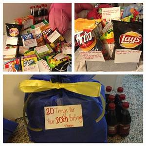 """My gift to my brother for his 20th birthday. """"20 Things ..."""