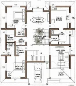 Plan for 4 bedroom house in kerala unique 4 bedroom house for Design of a four bedroom plan