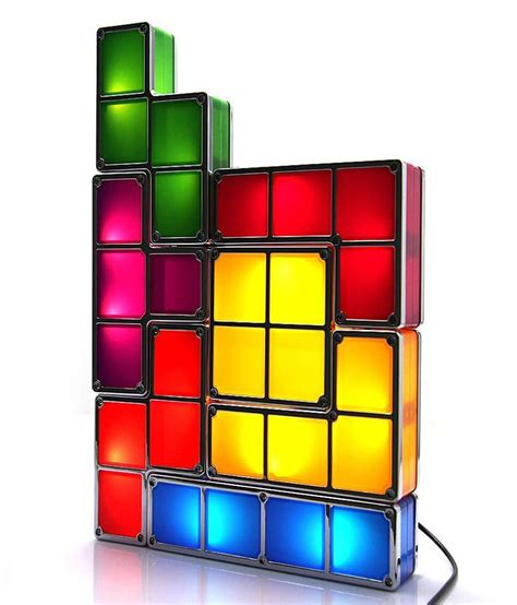 excluzy tetris stackable led desk night l buy excluzy