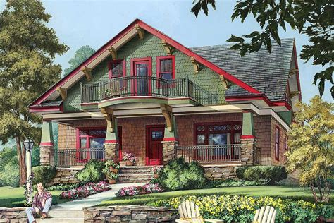 craftsman cottage   floor balcony wp architectural designs house plans