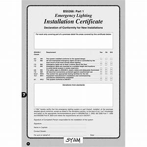 emergency lighting certificate template 28 images With emergency lighting test certificate template