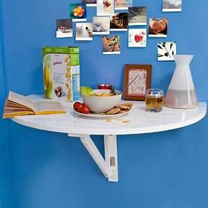 Table Demi Lune Pliante : sobuy fwt10 w table murale rabattable en bois table de cuisine pliabl ~ Dode.kayakingforconservation.com Idées de Décoration