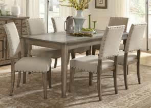 weatherford rectangular leg table  piece dining set