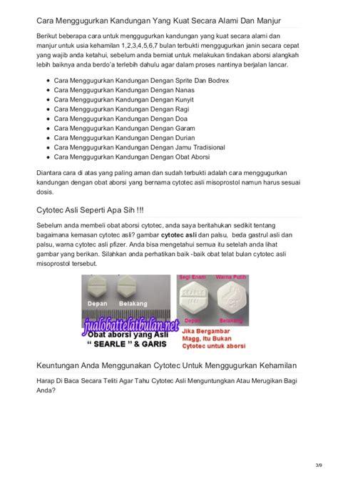 Cytotec Untuk 4 Bulan Obat Telat Bulan Cytotec Asli Obat Aborsi Penggugur