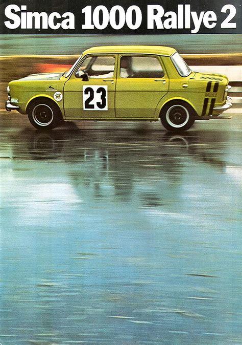 1973-76 Simca 1000 Rallye II brochure