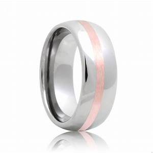 greensboro domed tungsten wedding ring with rose gold With wedding rings greensboro nc