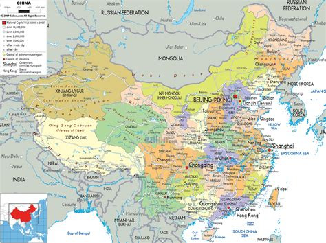 political map  china ezilon maps