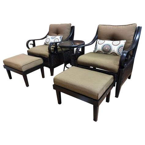 Lazy Boy Chairs And Ottomans by Pair Of Lazy Boy Patio Chairs Ottomans Side Table Set