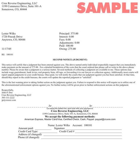 collection agency letter sample letter requesting