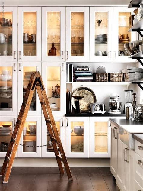 kitchen display cabinets glass display cabinets in the kitchen the design tabloid 1558