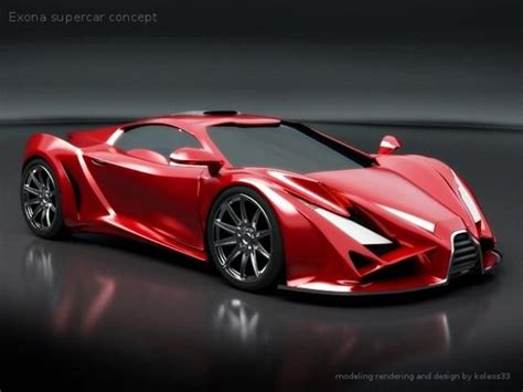 Serbian Rendersexona Supercar Concept Young Designer