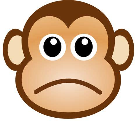 sad monkey clip art  clkercom vector clip art