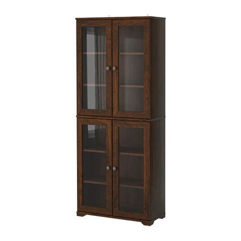 Ikea Hemnes Bathroom Collection by Borgsj 214 Glass Door Cabinet Brown Ikea