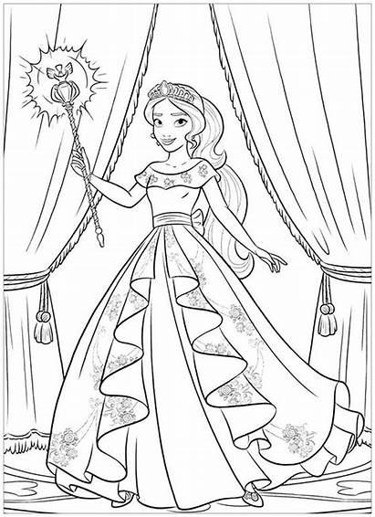 Elena Avalor Coloring Printable Coloriage Disney Princess