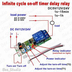 Dc 5v 12v 24v Infinite Cycle Delay Timing Timer Relay On
