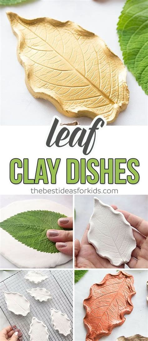 stunning diy leaf clay dish ideas  kids  jupiter