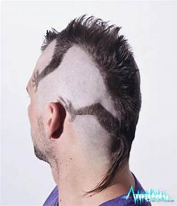 A funky men's mohawk haircut. This hairstyle is a mohawk ...