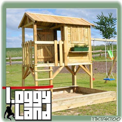 kinderspielhaus mit sandkasten stelzenhaus baumhaus sandkasten rutsche spielhaus kinderspielhaus schaukel holz ebay