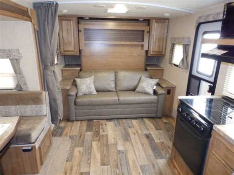 forest river rockwood    front murphy bedsapphire pack travel trailer