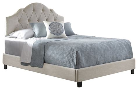 pri pri    fully upholstered tuft queen bed