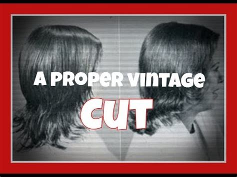 making  cut haircuts  vintage styles youtube