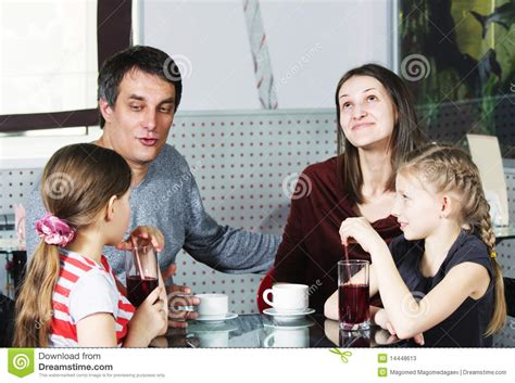 Dad Talking To Daughter Stock Image Image Of Male Cold 14448613