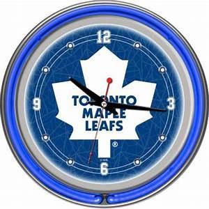 Trademark 14 in Toronto Maple Leafs NHL Neon Wall Clock
