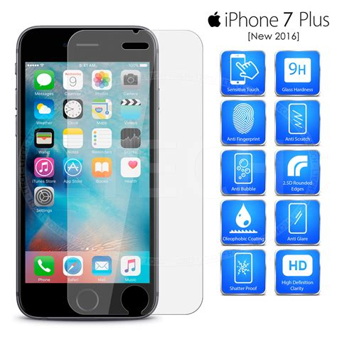19471 tempered glass screen protector iphone 5 for new apple iphone 7 plus 5 5 quot genuine tempered 19471