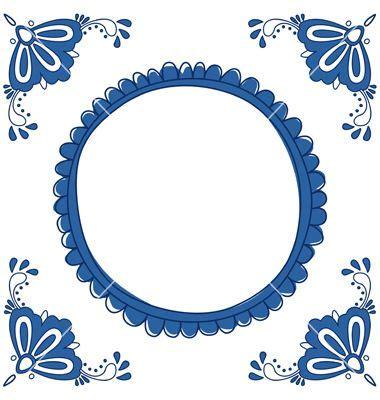delft blue empty vector image