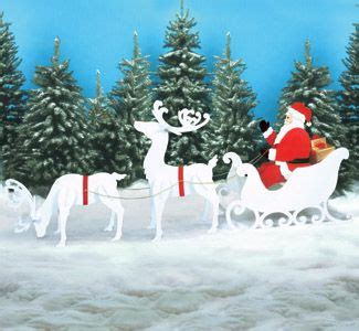 reindeer sleigh santa collection large size christmas decorations pinterest reindeer