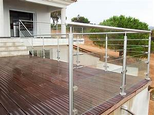 Garde Corp Terrasse : garde fou 3 cables et verre sur une terrasse bois ~ Melissatoandfro.com Idées de Décoration