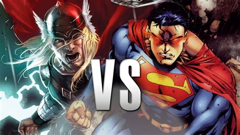superman  thor epic battle youtube